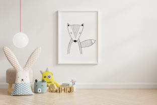 Print on Demand: Wall Art,Cute Red Fox Animal Clip Art Graphic Illustrations By Saydung89