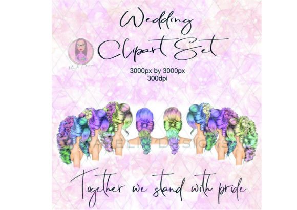 Wedding Hair Clipart Set Graphic Illustrations By Marelia Designs