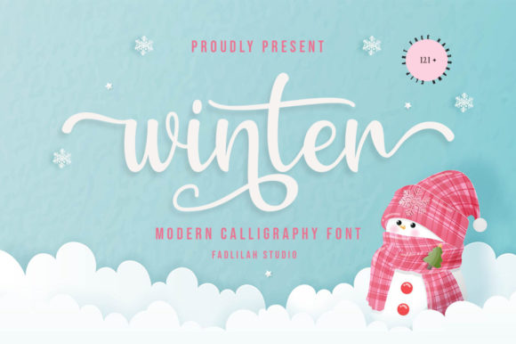 Print on Demand: Winter Script & Handwritten Font By Fadlilah Studio