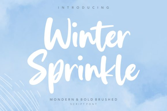 Print on Demand: Winter Sprinkle Script & Handwritten Font By letterativestudio
