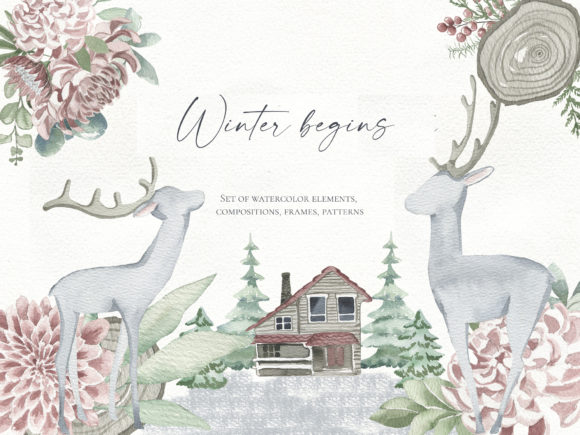 Print on Demand: Winter Begins Graphic Illustrations By laffresco04