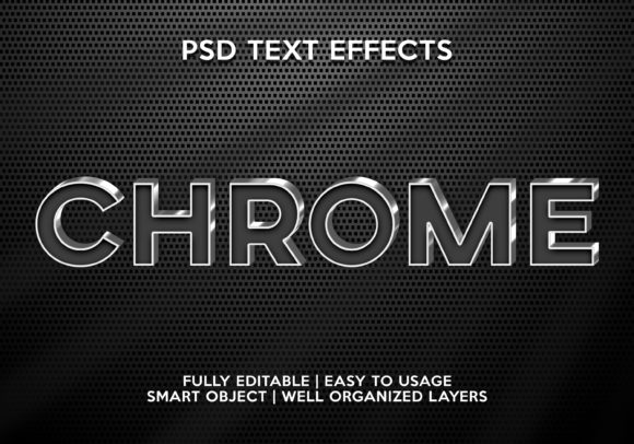 Chrome Text Effect Graphic Layer Styles By gilangkenter
