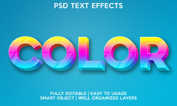 Color Text Effect Graphic Layer Styles By gilangkenter