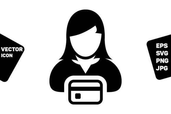 Print on Demand: ECommerce Icon Vector Female User Person Graphic Icons By TukTuk Design