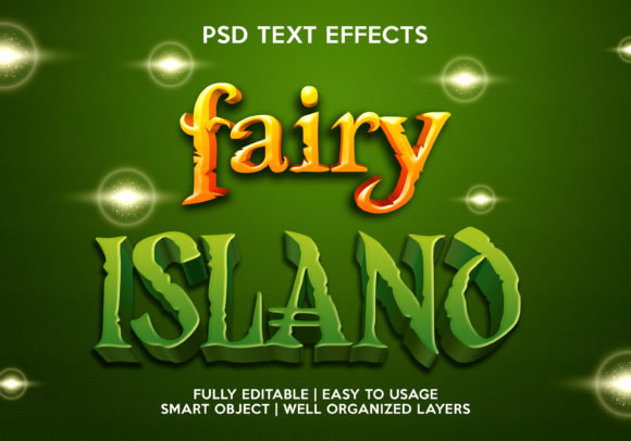 Fairy Island Text Effect Graphic Layer Styles By gilangkenter