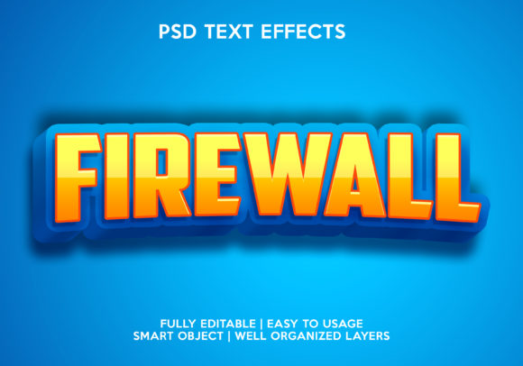 Firewall Text Effect Graphic