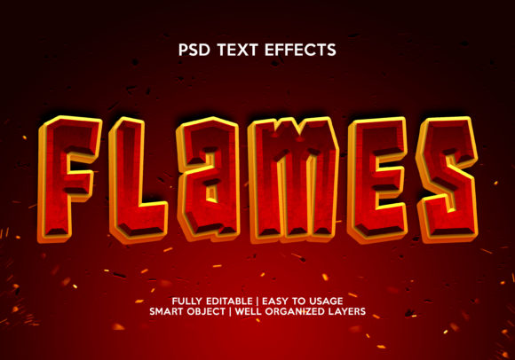 Flames Text Effect Graphic