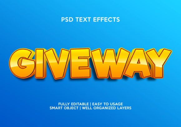 Giveway Text Effect Graphic