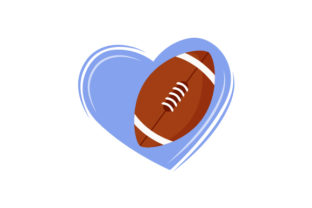 Football Heart Sports Craft Cut File By Creative Fabrica Crafts