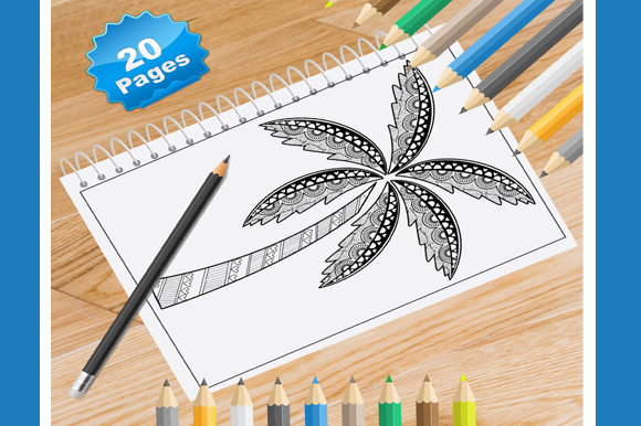 Print on Demand: 20 Tree Coloring Pages for Adults Graphic Coloring Pages & Books Adults By Coloring World