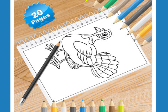 Print on Demand: 20 Turkey Coloring Pages Graphic Coloring Pages & Books By Coloring World