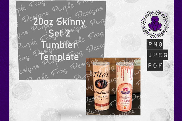 20oz Tumbler Skinny Template Graphic