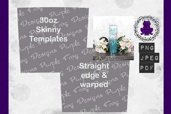 30oz Skinny Tumbler Templates Graphic Graphic Templates By Heather Terry