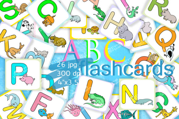 ABC FlashCards for Kids,Alphabet Graphic Teaching Materials By arevkasunshine