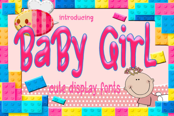 Print on Demand: Baby Girl Display Font By kateengletter