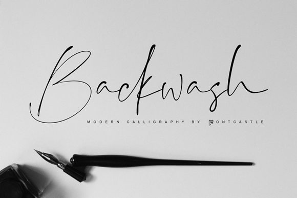 Print on Demand: Backwash Script & Handwritten Font By FontCastle