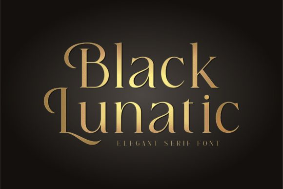 Print on Demand: Black Lunatic Serif Font By Hanzel Studio