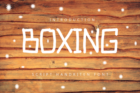 Print on Demand: Boxing Display Font By giatstudios