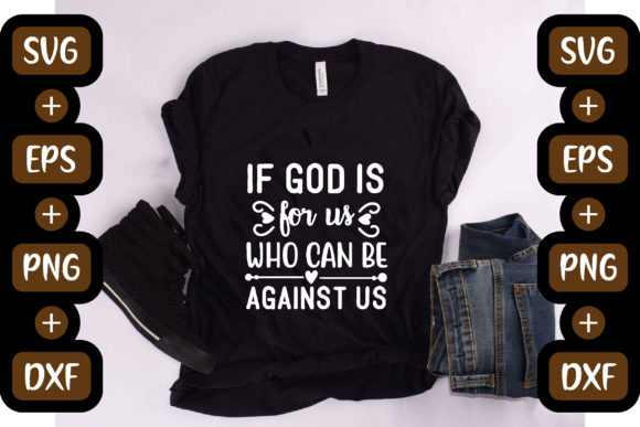 Christian Jesus Design, if God is for Us Graphic Crafts By creative store.net