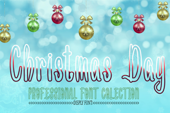 Print on Demand: Christmas Day Display Font By kateengletter