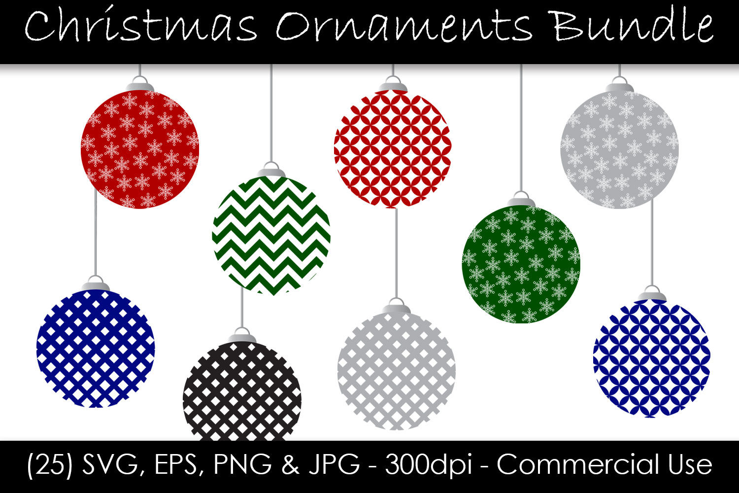Christmas Ornament Svg Bundle Graphic By Gjsart Creative Fabrica