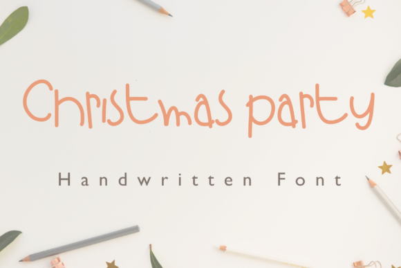 Print on Demand: Christmas Party Script & Handwritten Font By KateType