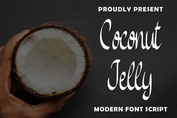 Print on Demand: Coconut Jelly Script & Handwritten Font By rangkaiaksara