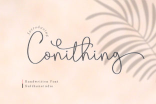 Print on Demand: Conithing Script & Handwritten Font By Sulthan Studio