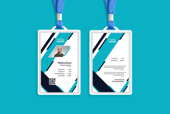 Corporate ID Card Template Design Graphic Print Templates By Pixelpick
