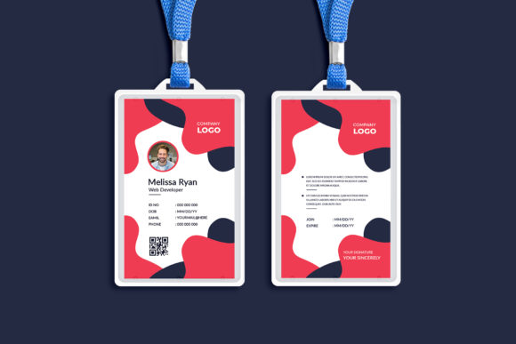 Corporate ID Card Templates Design Graphic Print Templates By Pixelpick