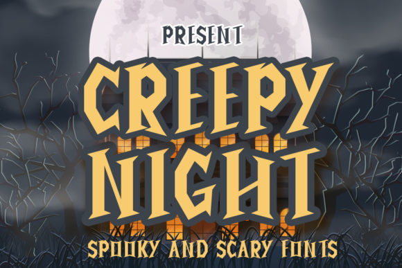 Print on Demand: Creepy Night Display Font By edwar.sp111