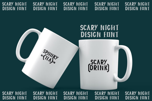 Creepy Night Font Item