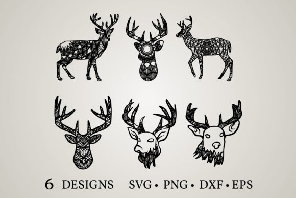 Deer Mandala Svg Graphic Print Templates By Euphoria Design