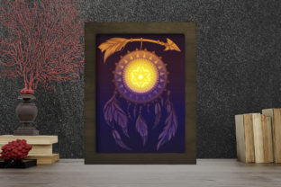 Print on Demand: Dreamcatcher Light Box Shadow Box Graphic 3D Shadow Box By LightBoxGoodMan