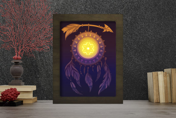 Dreamcatcher Light Box Shadow Box Graphic 3D Shadow Box By LightBoxGoodMan