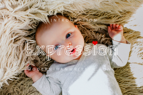 Print on Demand: Expression Display Font By giatstudios