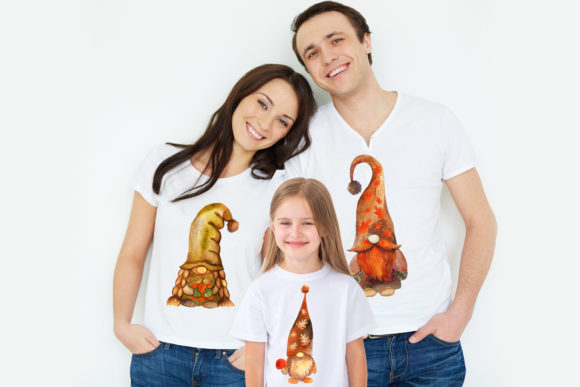 Fall Gnome Family Graphic Item