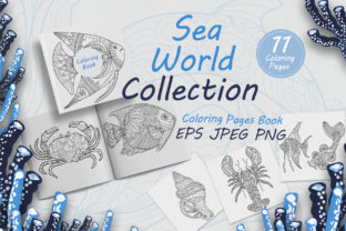 Fish and Marine Life for Coloring Book Graphic Coloring Pages & Books Adults By FolkStyleStudio