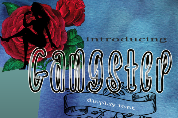 Print on Demand: Gangster Display Font By kateengletter