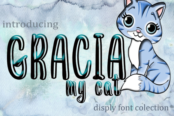 Print on Demand: Gracia Display Font By kateengletter