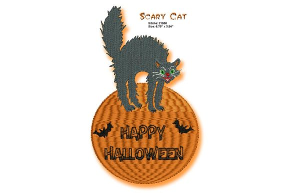 Halloween Cat Halloween Embroidery Design By BabyNucci Embroidery Designs