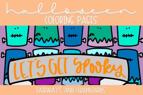 Print on Demand: Halloween Coloring Pages Vll Graphic Coloring Pages & Books By Fairways and Chalkboards