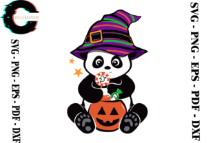 Print on Demand: Halloween Panda Vector Graphic Print Templates By SVG Creation