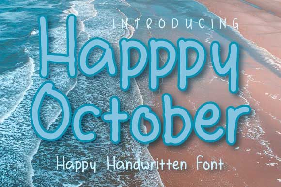 Print on Demand: Happy October Script & Handwritten Font By Yafont