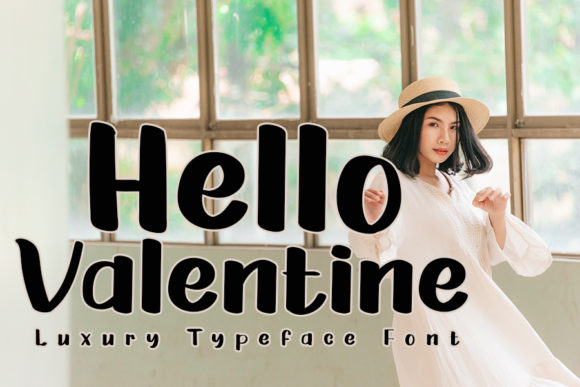 Print on Demand: Hello Valentine Display Font By ONE DESIGN