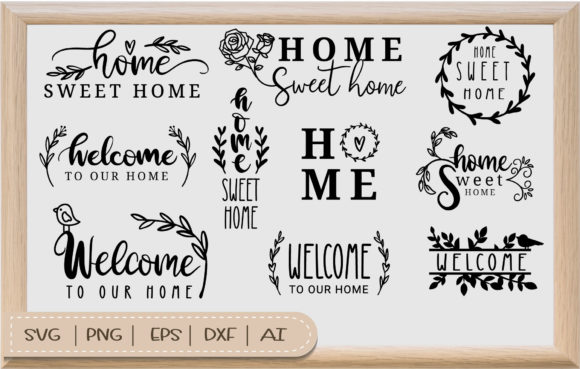 Home Sweet Home  with Border SVG Graphic Crafts By artdee2554