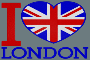 I Love London Europe Embroidery Design By Digital Creations Art Studio