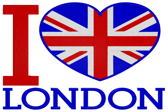 I Love London Embroidery Download