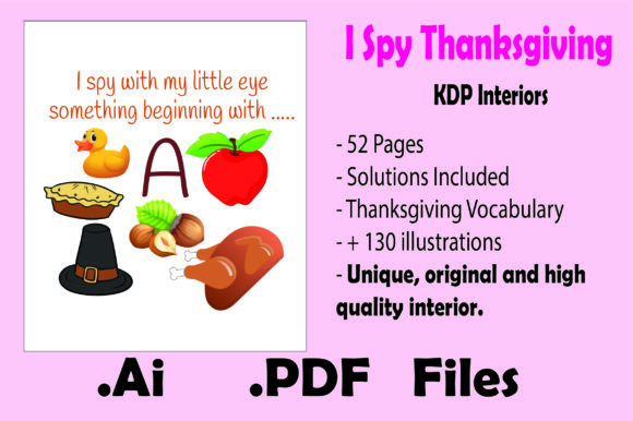 Print on Demand: I Spy Thanksgiving - Kdp Interiors Graphic KDP Interiors By KDP_Interior_101