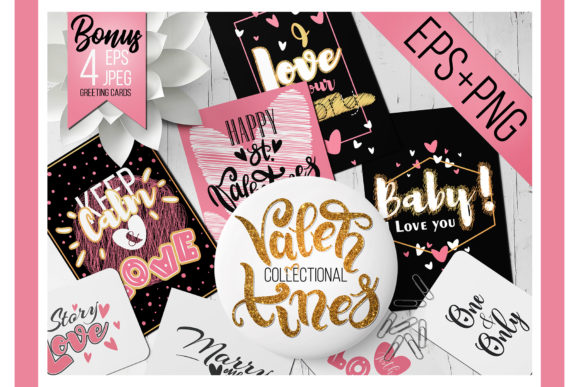 Lettering Phrases for Valentines Day Graphic Objects By art.halych